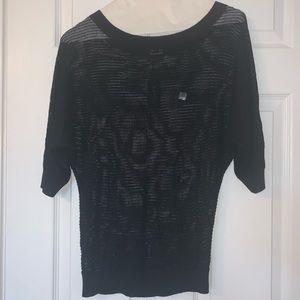 Sheer black EXPRESS top. NWT. SIZE XS